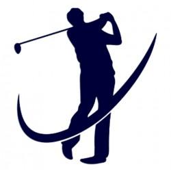 Samolepka na auto s motivem golfu- golfista 04