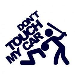 Samolepka na auto s nápisem Don't touch my car