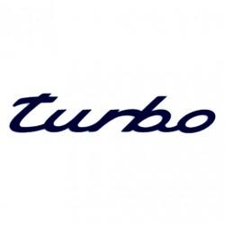 Tuning samolepka na auto s nápisem Turbo