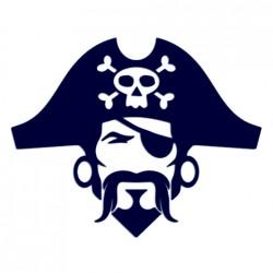 Samolepka na auto- pirát
