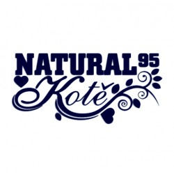 Tuning samolepka na auto s nápisem Natural 95 kotě