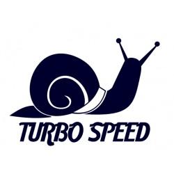 Tuning samolepka na auto s nápisem TURBO SPEED