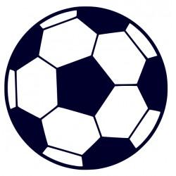 Samolepka na auto - fotbalový míč