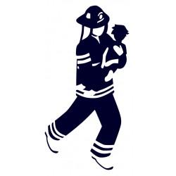 Samolepka na auto pro hasiče - hasič 04