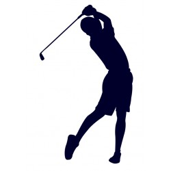Golfista- Nálepka na auto s motivem golfu