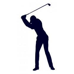 Samolepka na auto s motivem golfu- golfista 06