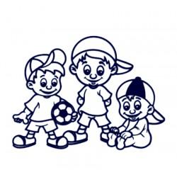 Tři kluci- Samolepka na auto se jmény dětí- tři bratři