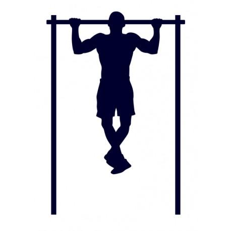 Samolepka na auto- fitness cvičení- hrazda