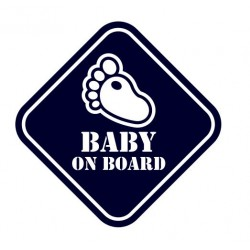 Samolepka na auto- Baby on board 01