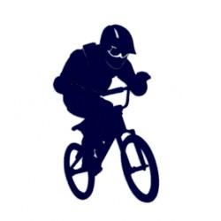 TRIAL- Samolepka na auto TRIAL jízdy na kole
