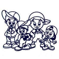 Čtyři kluci- Samolepka na auto se jmény dětí- čtyři bratři