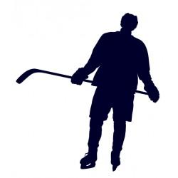Hokejista- útočník- samolepka na auto - lední hokej