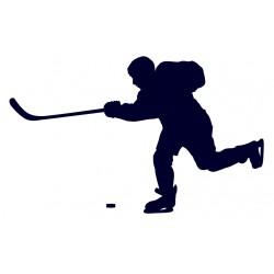 Samolepka na auto hokejista- útočník- lední hokej