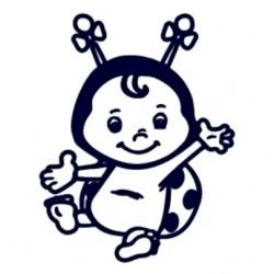 Samolepka na auto se jménem dítěte- holka beruška