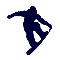 Samolepka na auto-snowboarding