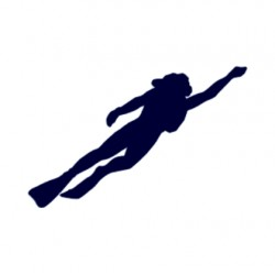 Samolepka na auto-potápěči