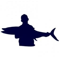 Samolepka na auto-rybář 01