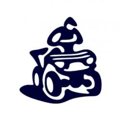 Samolepka na auto s motivem čtyřkolky