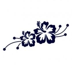 Samolepka na auto-květiny 02