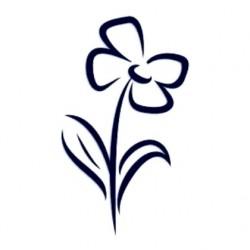 Samolepka na auto-květina 01