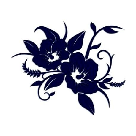 Samolepka na auto-květiny 03