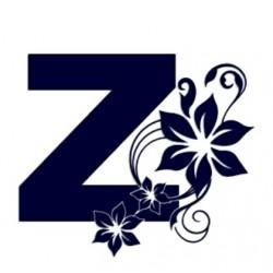 Samolepka na auto-začátečnice- písmeno Z s květinou