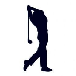 Samolepka na auto s motivem golfu- golfista 02