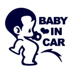Samolepka na auto se jménem dítěte- Baby in car