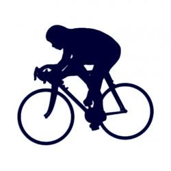 Samolepka na auto- silniční cyklistika- silniční kolo 01