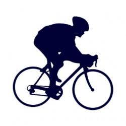 Samolepka na auto- silniční cyklistika- silniční kolo 02