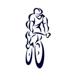 Samolepka na auto- silniční cyklistika- silniční kolo 03