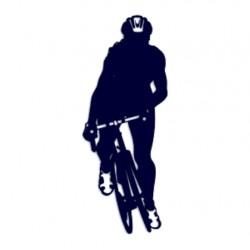 Samolepka na auto- silniční cyklistika- silniční kolo 04