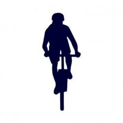 Samolepka na auto- jízda na kole