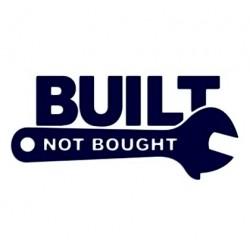 Samolepka na auto - Built not bought