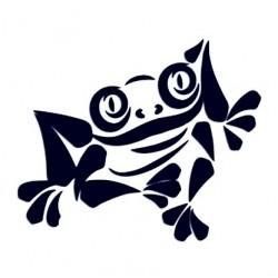 Samolepka na auto - žába