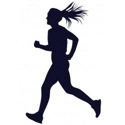 Samolepka na auto s motivem běhání- běžkyně