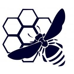 Samolepka včela na plástu- samolepky na auto