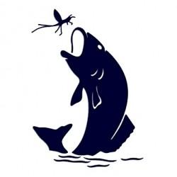 Samolepka na auto - ryba 04 - rybaření