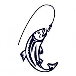 Samolepka na auto - ryba 05 - rybaření
