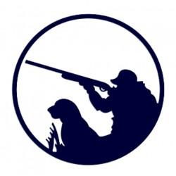 Samolepka na auto- myslivec na lovu