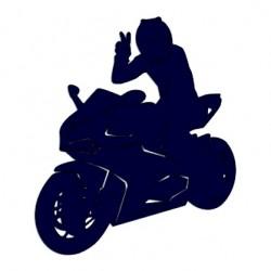 Samolepka na auto - motorkář