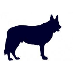 Samolepka na auto-pes v autě - Německý ovčák 03