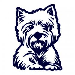 Westík- Samolepka na auto - pes v autě