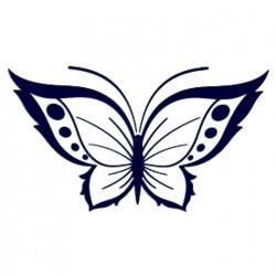 Samolepka na auto - motýl 02